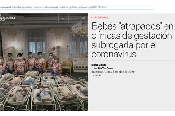 """Bebés """"atrapados"""" en clínicas de gestación subrogada por el coronavirus"""